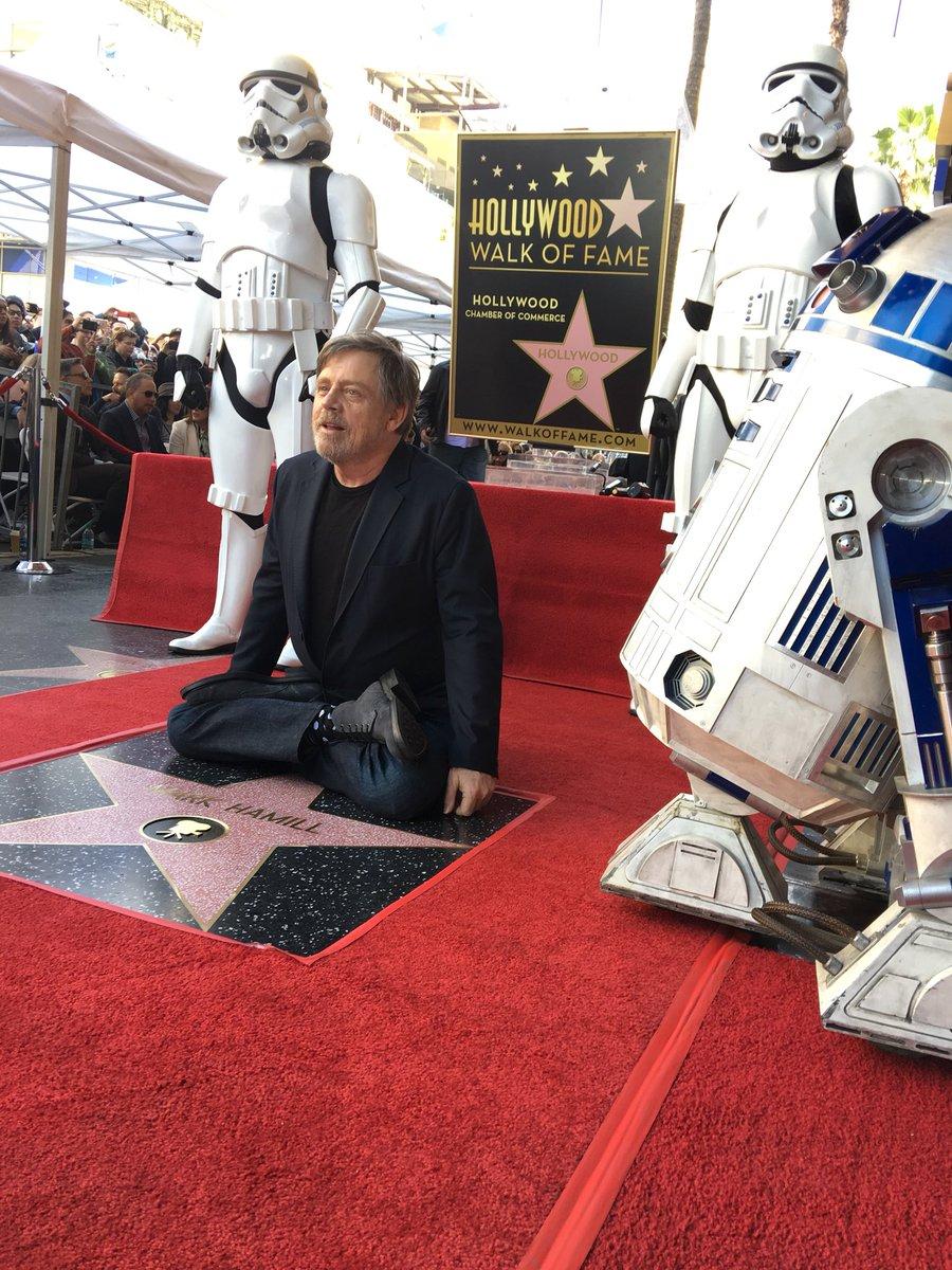 Новости Звездных Войн (Star Wars news): Марк Хэмилл получил звезду на голливудской Аллее славы