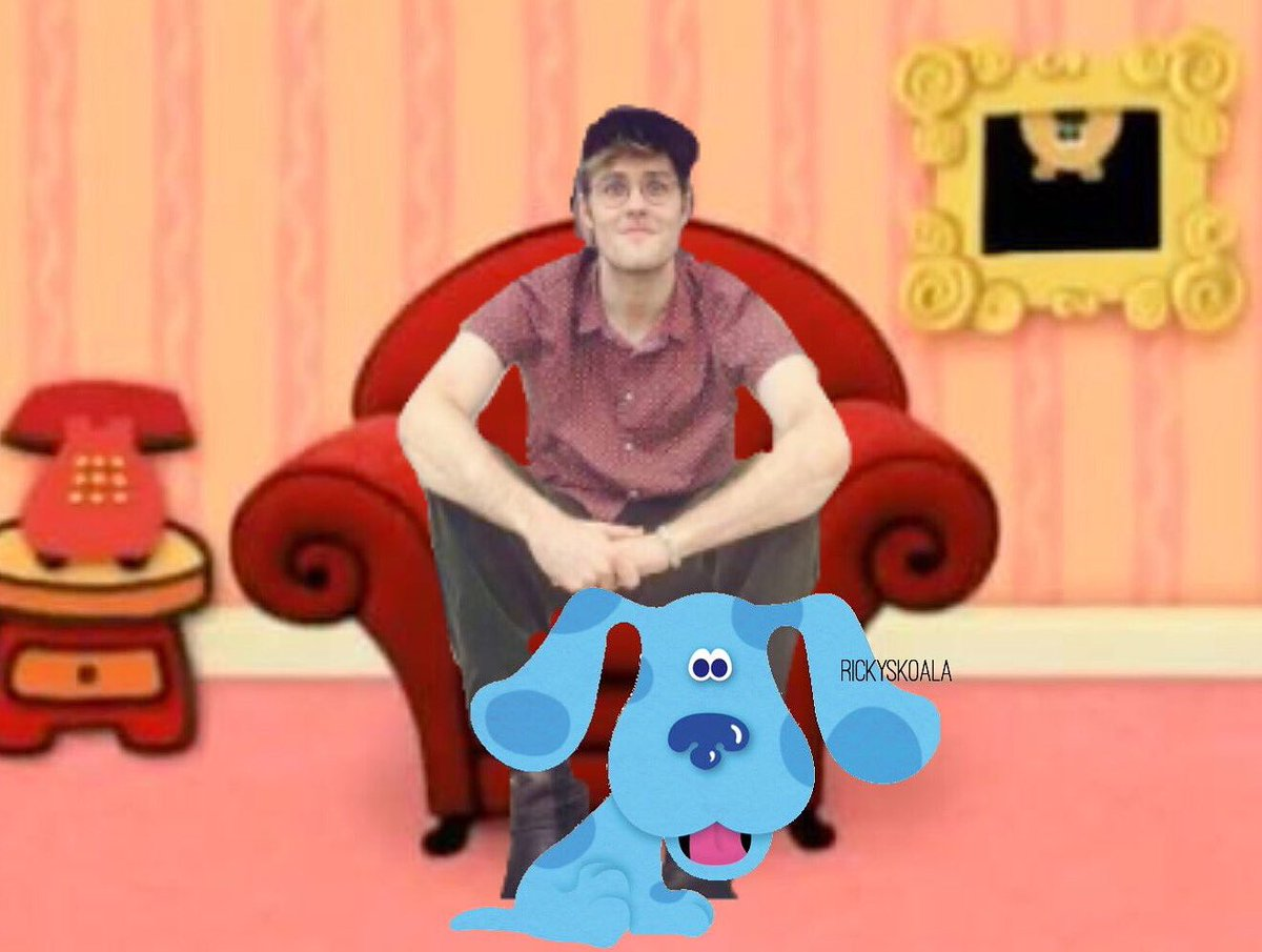 GARRETT WAS BORN TO BE STEVE! THIS IS MY 2018 MISSION! MY OTHER JOBS ARE CANCELLED!  #garrettbluesclues