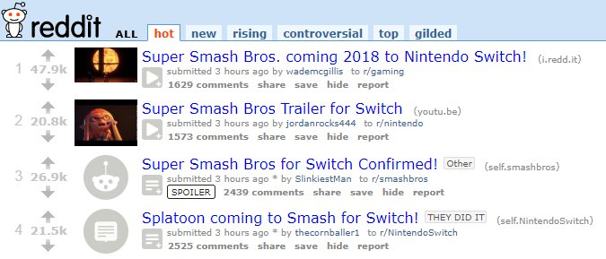 SMASH ON SWITCH ANNOUNCED ON 3/8/18