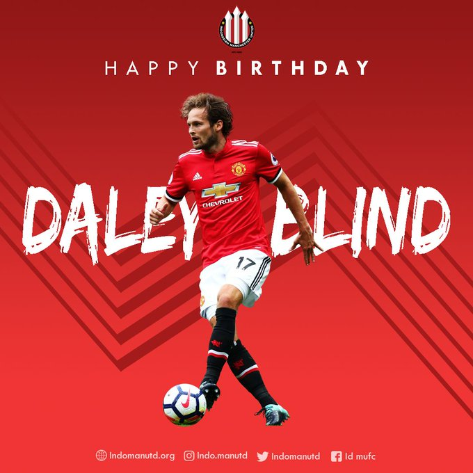 Happy Birthday, Daley Blind!!! All the best