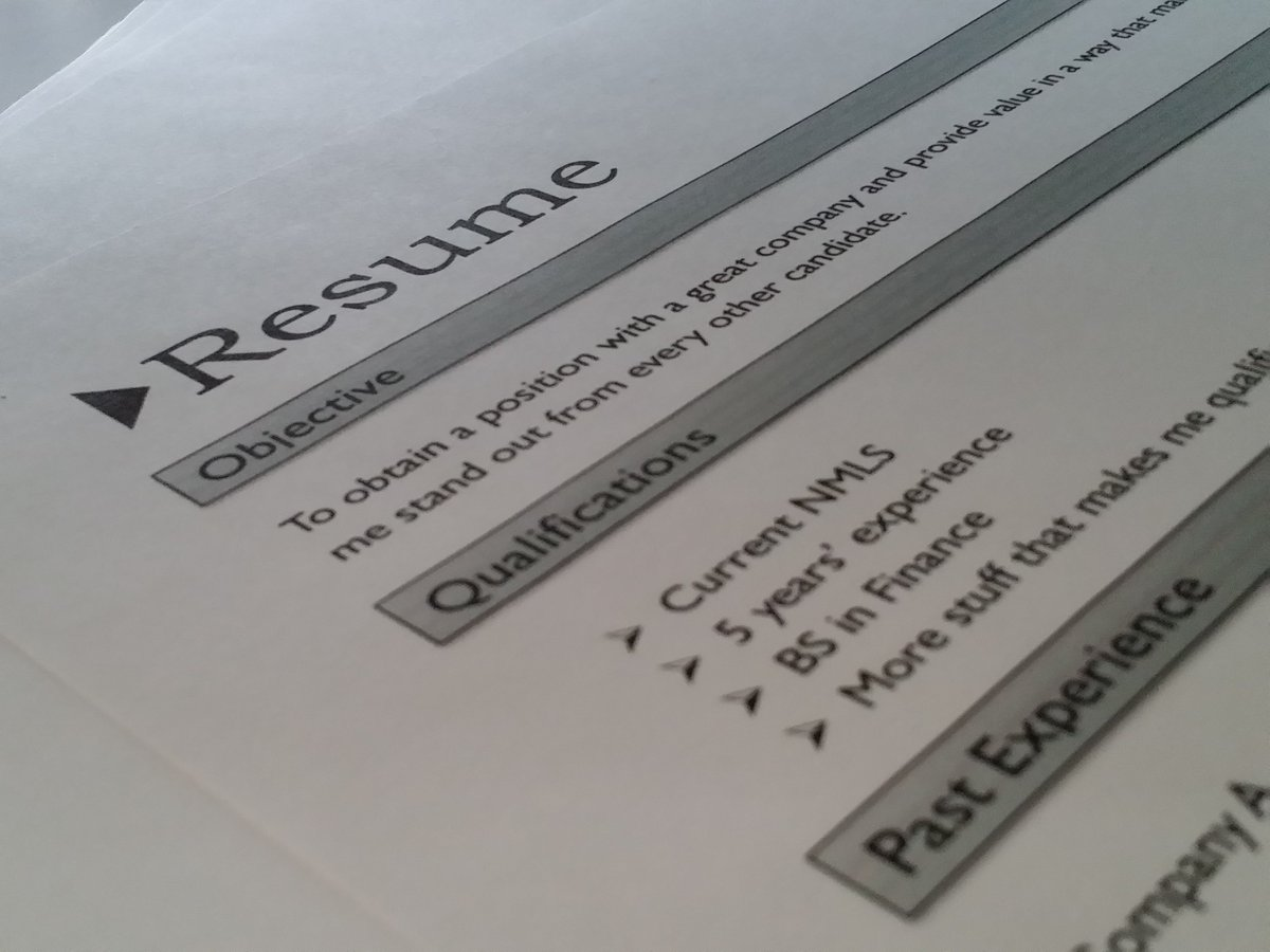 catchy resume objective examples reply retweet like