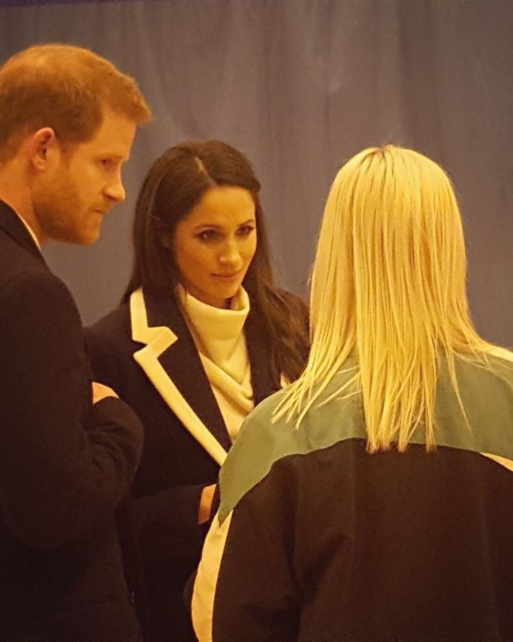 Today I have mainly been stalking these beauts & taking covert pics (from a kitchen) on their visit to inner city Brum. They held hands the whole time & Harry had a protective arm around her while attempting to avoid the puddles of drool...🤤😍 #royalvisit #yeswementionedsuits