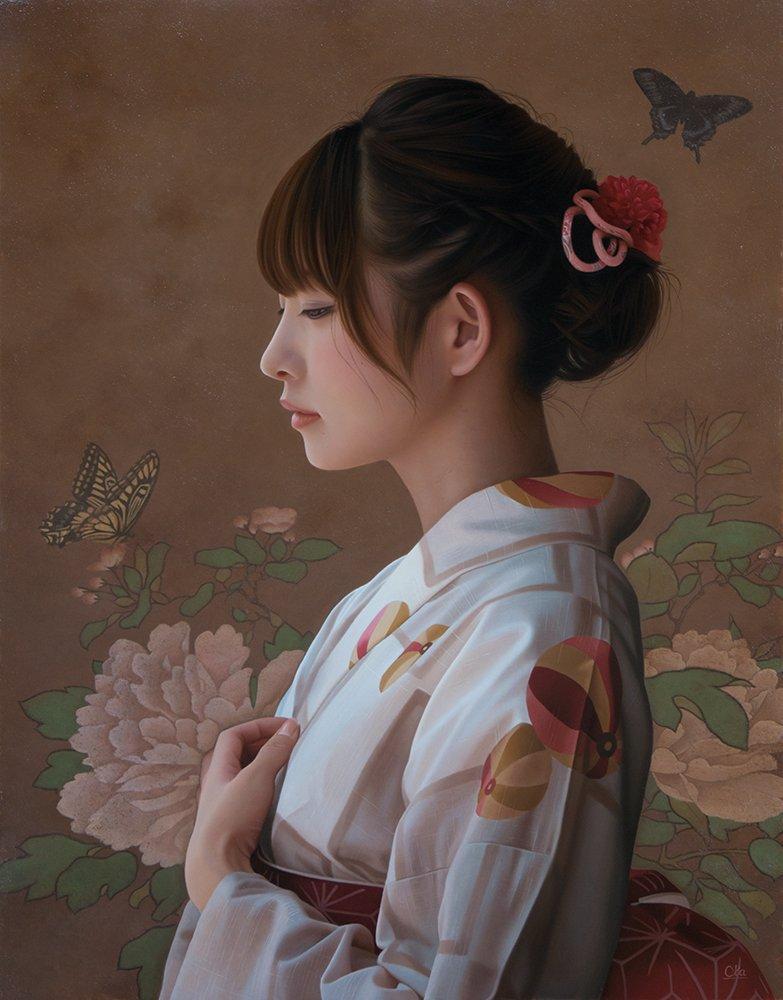 油絵で、主に人物画を描いております。 写真ではなくて絵画ですよ~😆 よろしくお願いいたします。  #私の作品もっと沢山の人に広がれ祭り