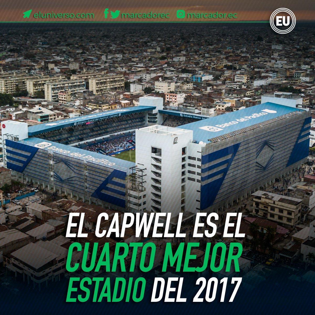 ¡ Atención hinchas de #Emelec ! El #Capwell fue reconocido como el cuarto mejor estadio del 2017. ► https://t.co/anK2n5Tqvu