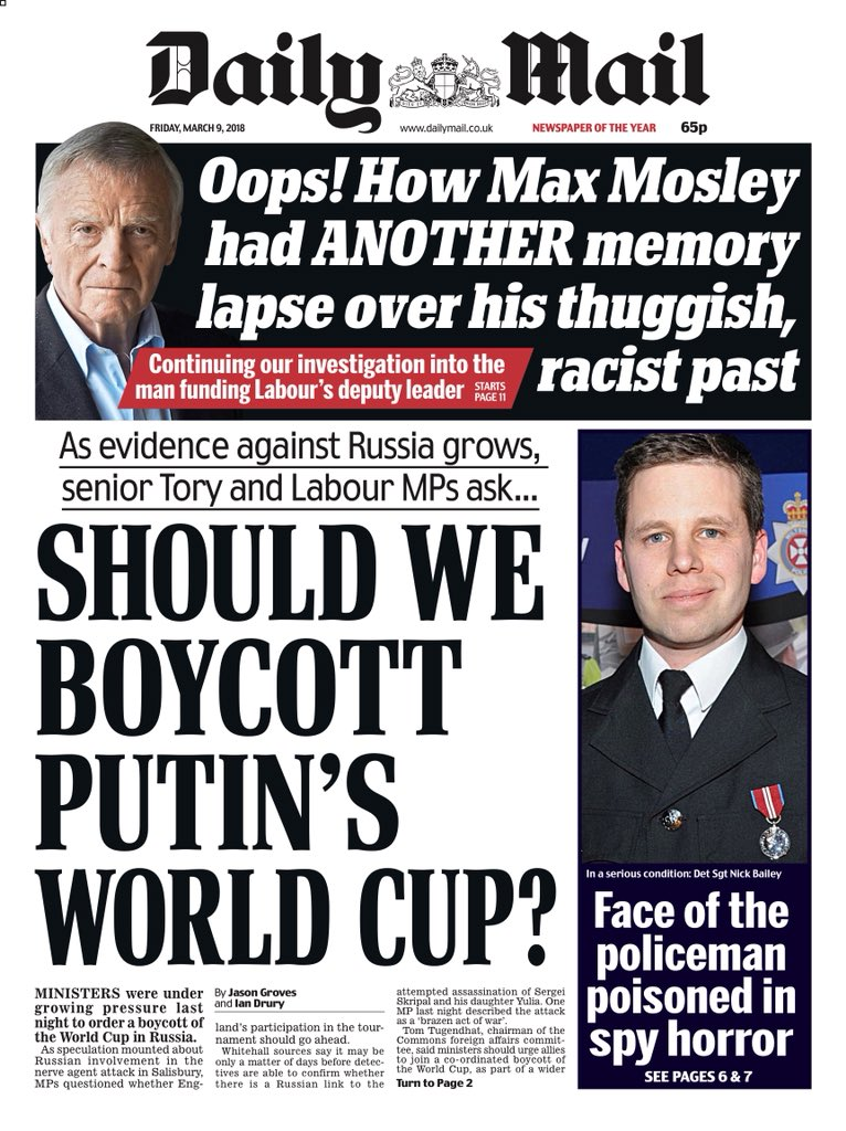 Image result for should england boycott putin world cup mail online