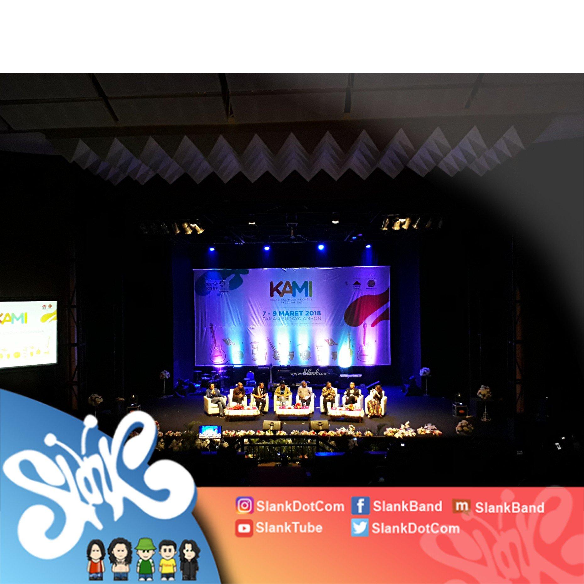 Pagi ini, Slank lebih dulu hadir di Konferensi Musik Indonesia & Festival 2018 sebelum #ngeSlankDiAmbon nanti malam! https://t.co/2zCl2VUwSN