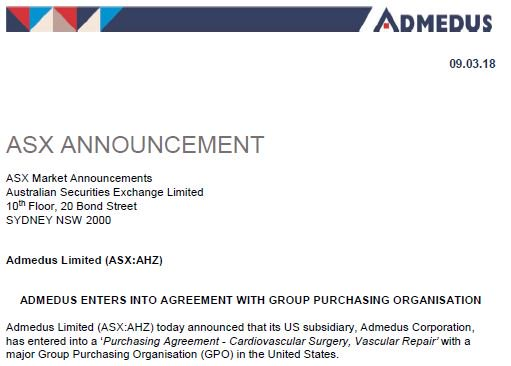 Admedus Twitter Admedus Today Announced That Our Us Subsidiary