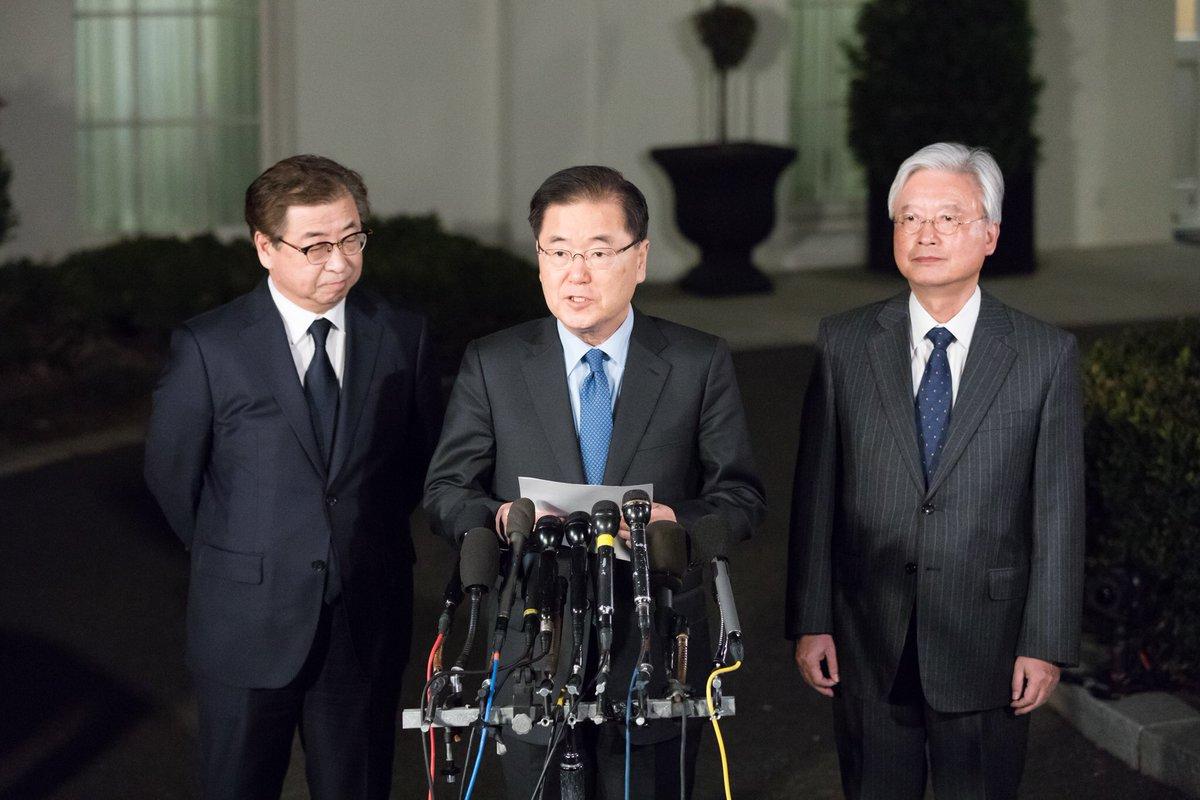 Hasil gambar untuk Remarks by Republic of Korea National Security Advisor Chung Eui-Yong