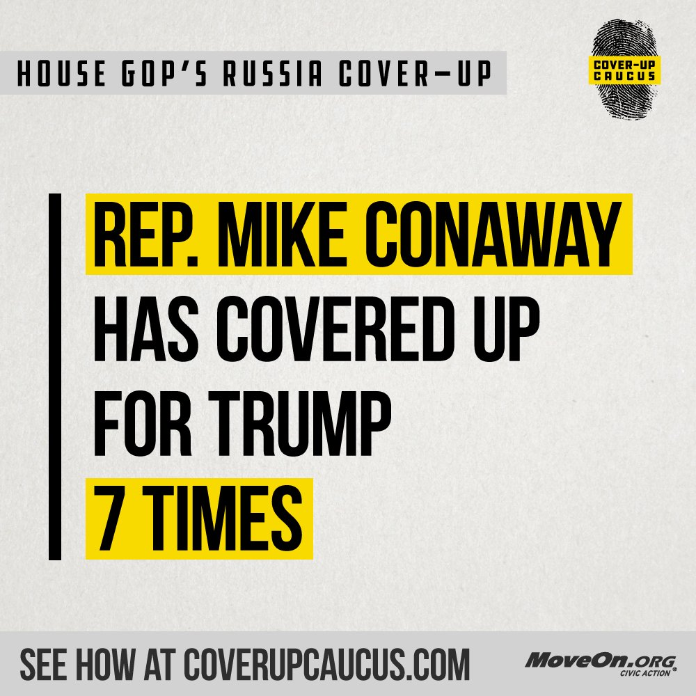 Really, @ConawayTX11?! Is your Representative part of @realDonaldTrump's #CoverUpCaucus? Find out: https://t.co/ifySaQMF05 #ProtectMueller #TrumpRussia
