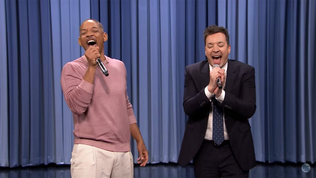 Watch Will Smith and Jimmy Fallon belt out the history of TV theme songs, including the #FreshPrinceOfBelAir! https://t.co/Hh5NceVydl
