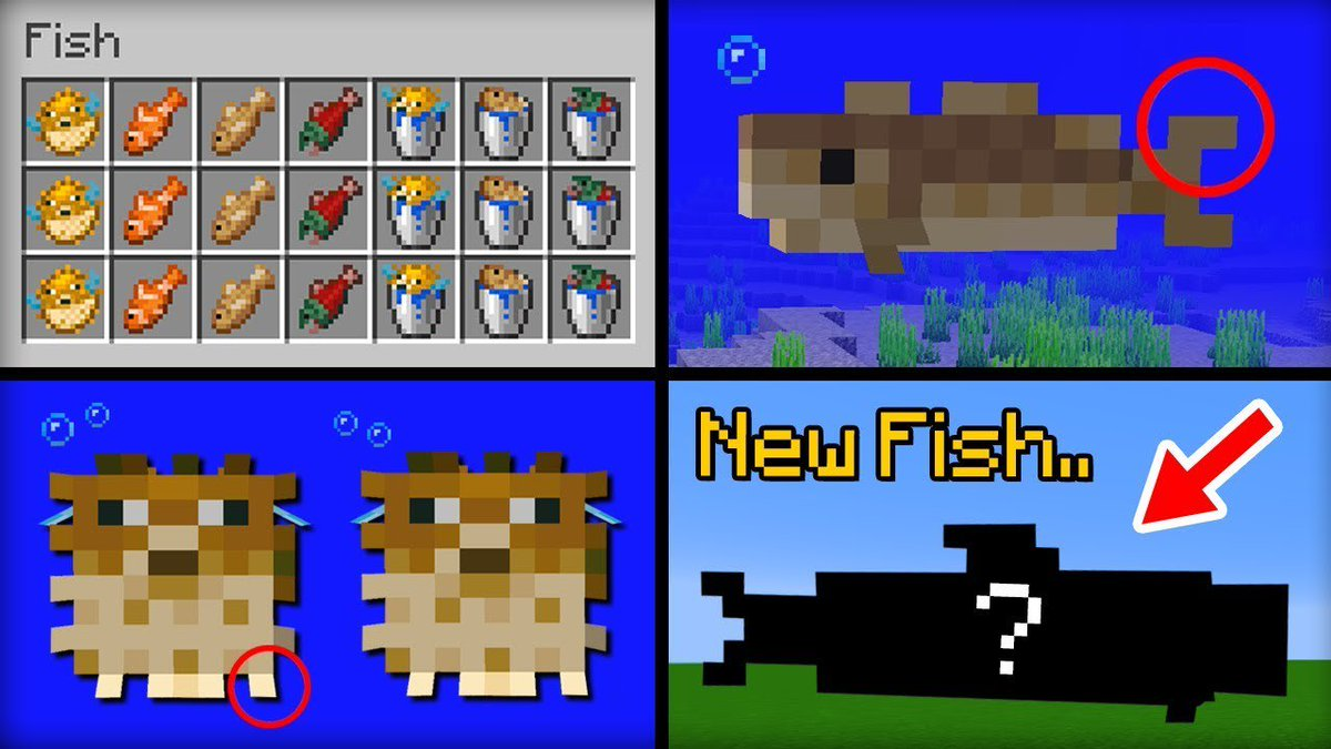 """Minecraft Update Aquatic Features/Guide on Twitter: """"Fish: There"""