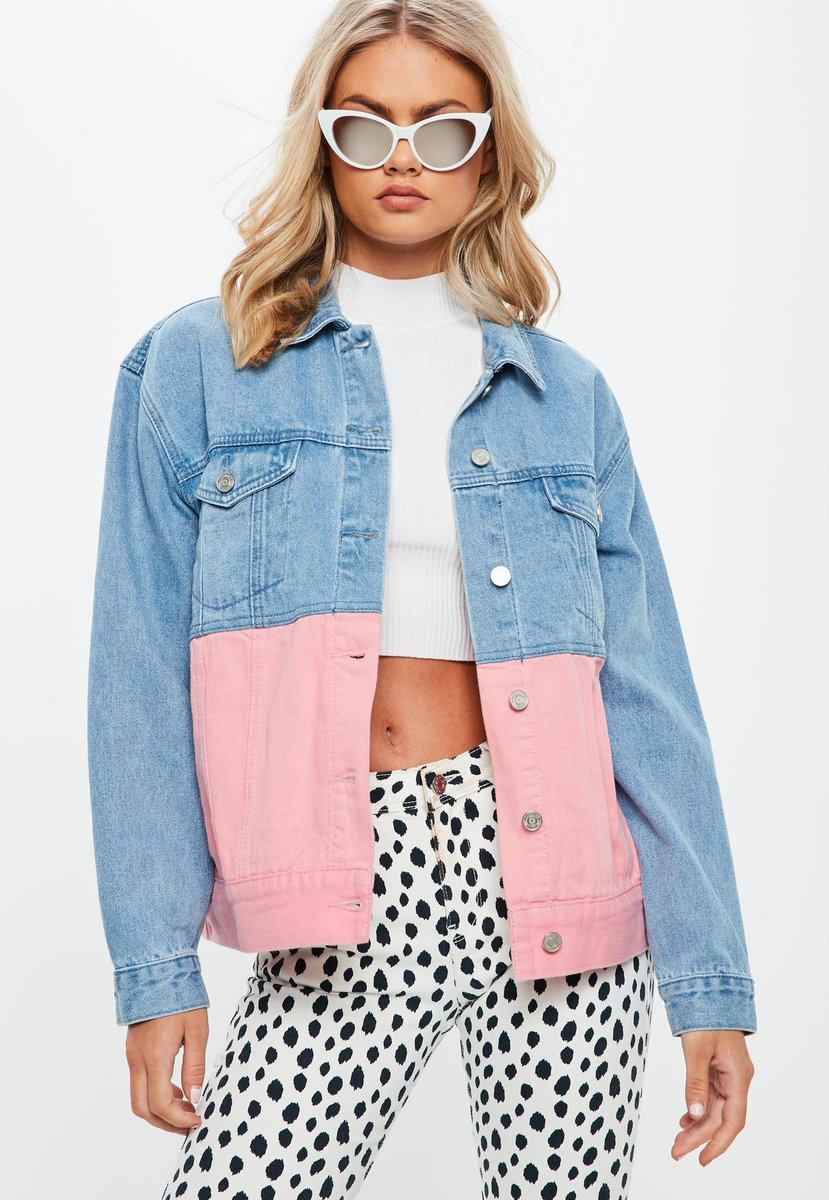 Say hey to your new favourite jacket ✌️ Shop the blue oversized contrast denim jacket, right here: https://t.co/SjW8R6tk9g