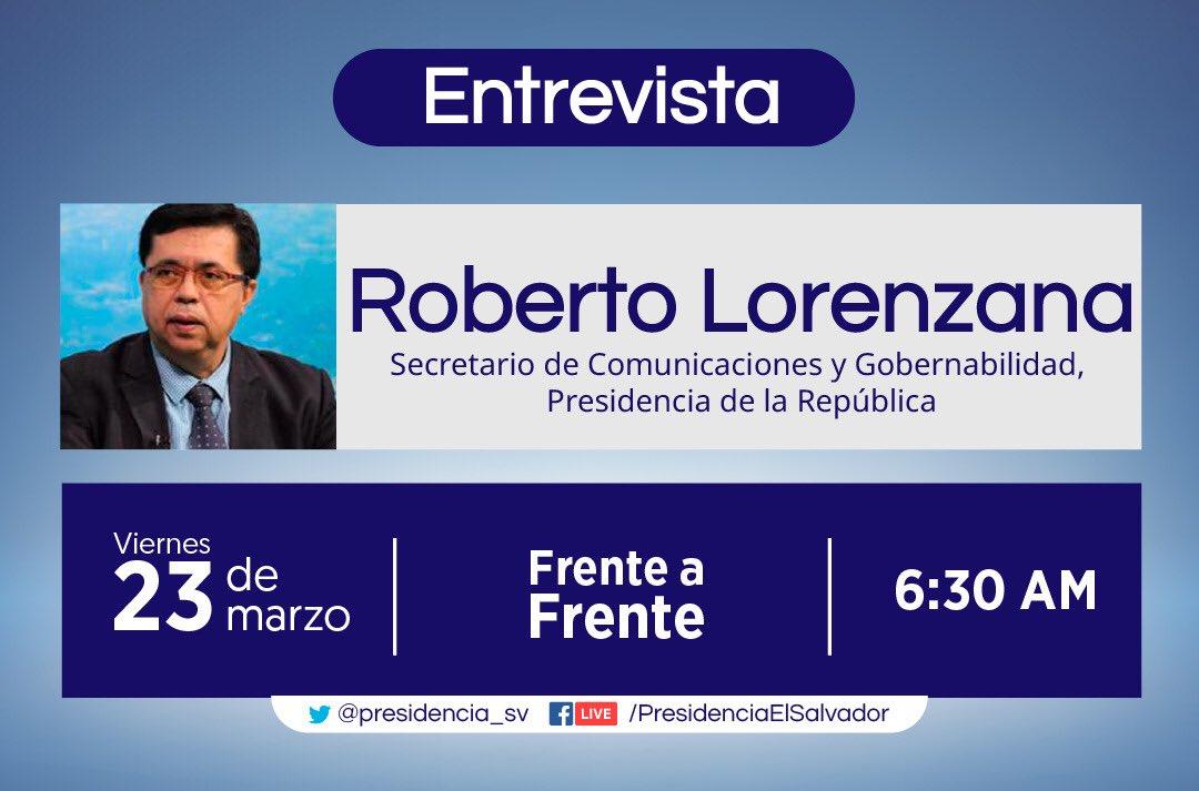 📡 #Entrevista Secretario @rlorenzana_ esta mañana en @Frentea_Frente
