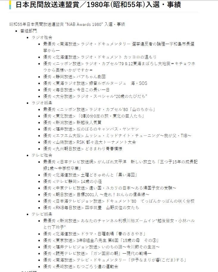日本民間放送連盟賞 hashtag on ...