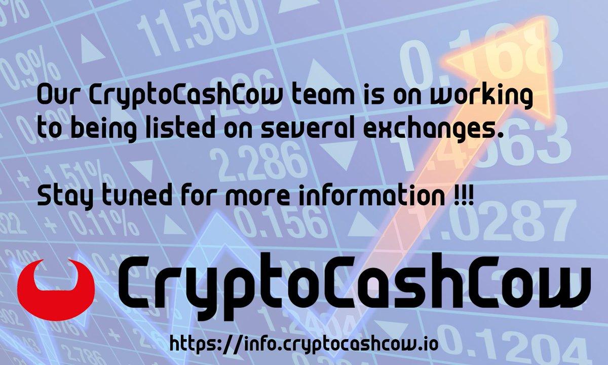 CryptoCashCow Exchange announcement