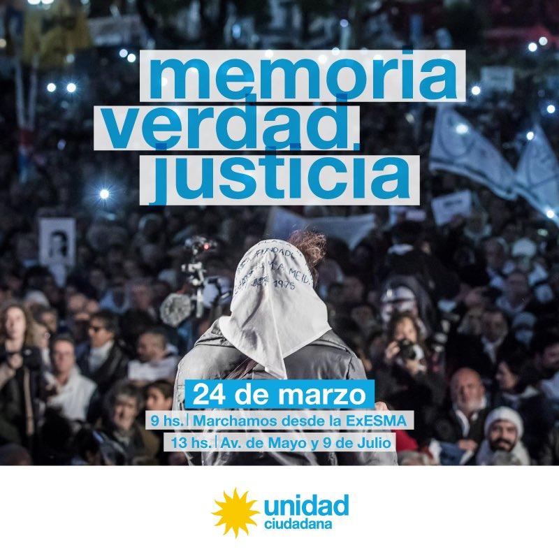 Unidad Ciudadana ☀️'s photo on #NuncaMas