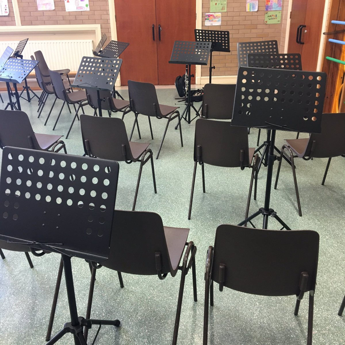 test Twitter Media - All set up for our first rehearsal with instruments! 🎶 #sharededucation #musiceducation #artsmatterni https://t.co/z7VLw86pY0