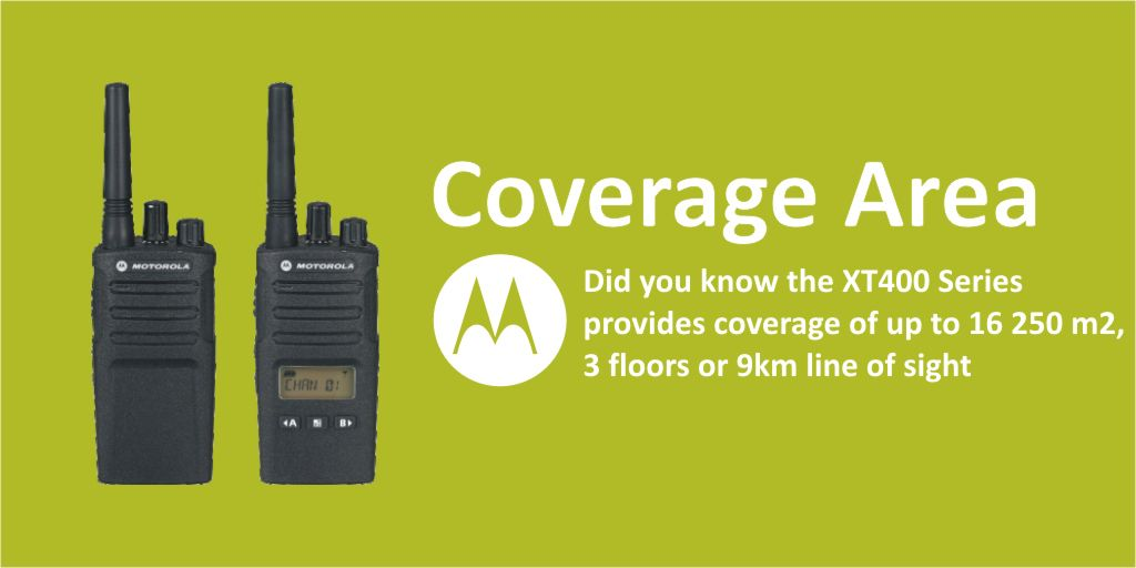 #446Friday Did you know the Motorola Solutions #XT400 #WalkieTalkies can cover multiple levels + localised areas. Learn More https://t.co/fOORG5sUuN  #edtech #pmr446 #gardencentres #espo #Motorola #heretosupportyou