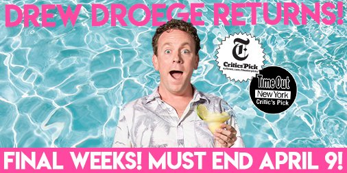 Cograts @drewdroege @boomboomhiller @zachlaks and everyone at @BrightBoldPlay. Can't wait to see it all come full circle. Let's have the cast party in #PalmSprings. No dress code, we promise.