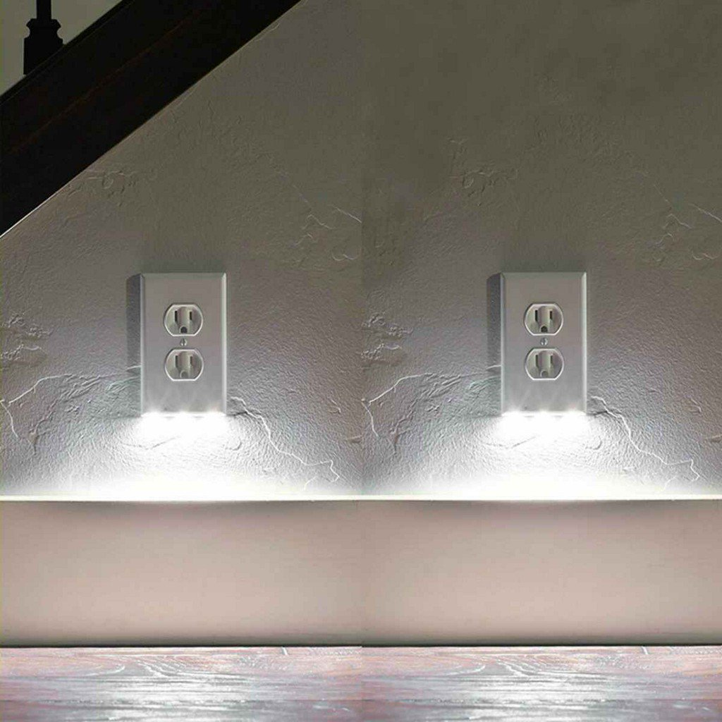 c3350c712385 margies money saver 2 pack snap on outlet cover with built in led night  lights