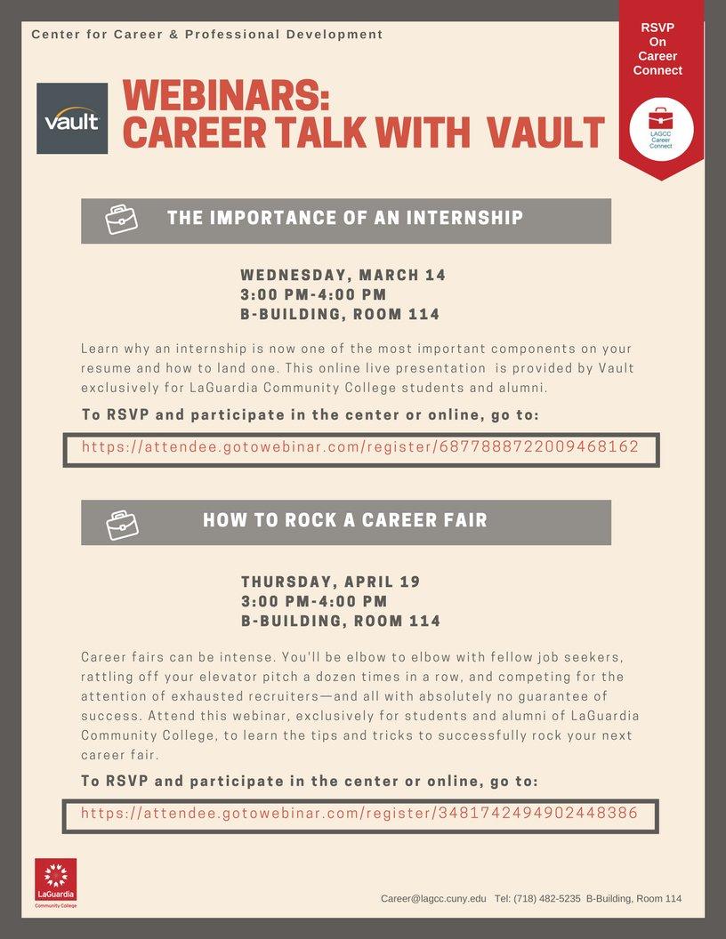 Career Services (@LaGuardiaCareer) | Twitter