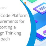 Many #ITLeaders explore low-code platforms as a way to amplify and accelerate #designthinking's benefits. Download this executive brief to help guide you in your evaluation of #lowcode platforms. https://t.co/Ti68EDweMe #appdev