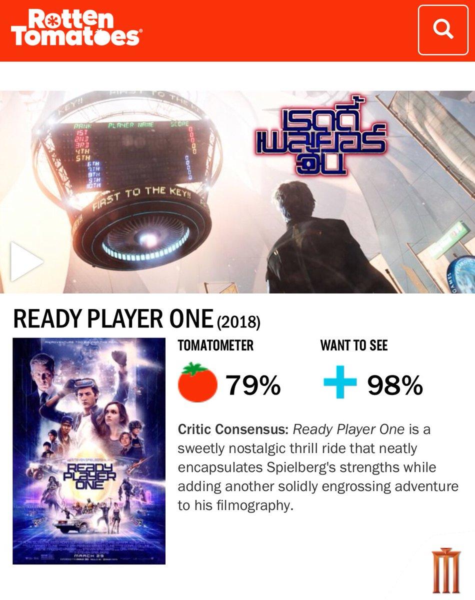 """เปิดตัวด้วยคะแนนจากเว็บ Rotten Tomatoes สูงถึง """"79 %"""" แบบนี้ไม่ธรรมดาพบกับผลงานการกำกับล่าสุดของพ่อมดแห่งฮอลลีวูด """"สตีเวน สปีลเบิร์ก"""" ใน #ReadyPlayerOne """"สงครามเกมคนอัจฉริยะ"""" 29 มีนาคมนี้ในระบบ IMAX3D และ 4DX"""