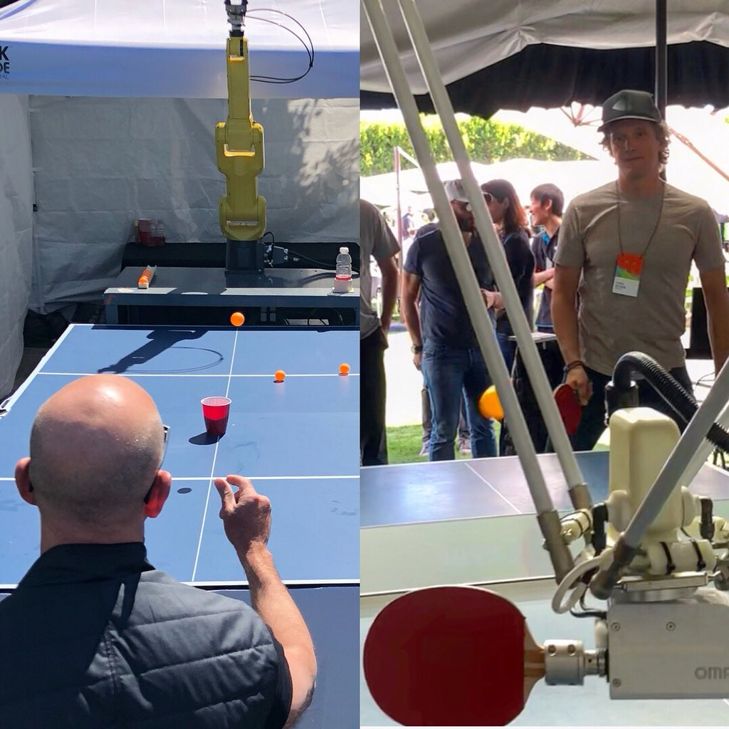 Yves Behar On Twitter I Played Ping Pong With A Robot Jeff Bezos