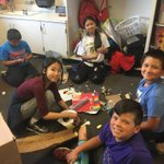 Image for the Tweet beginning: #Barton 5th graders are building
