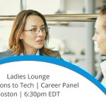 Join Amanda McDermott from @tidelift, @PMinHeels from @zmags, Jessica Cornman-Homonoff from @GA_boston & our very own @tara9033 from #Mendix at this month's Ladies Lounge! Discover what you need to transition to a tech career! Save Your Seat: https://t.co/04DaYyLZ1a #Boston