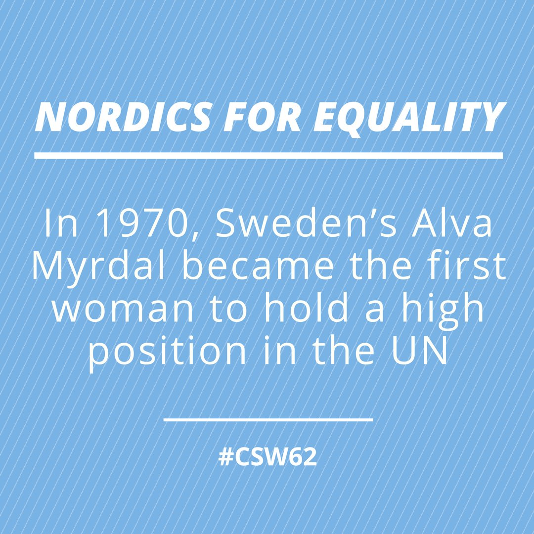 Swedennewyork On Twitter Sweden S Alva Myrdal Feminist Politician Diplomat Was Awarded The Nobelprize For Peace In 1982 For Her Tireless Advocacy Of World Disarmament Nordics4equality Csw62 Genderequality Https T Co Fgzvbj0tsj