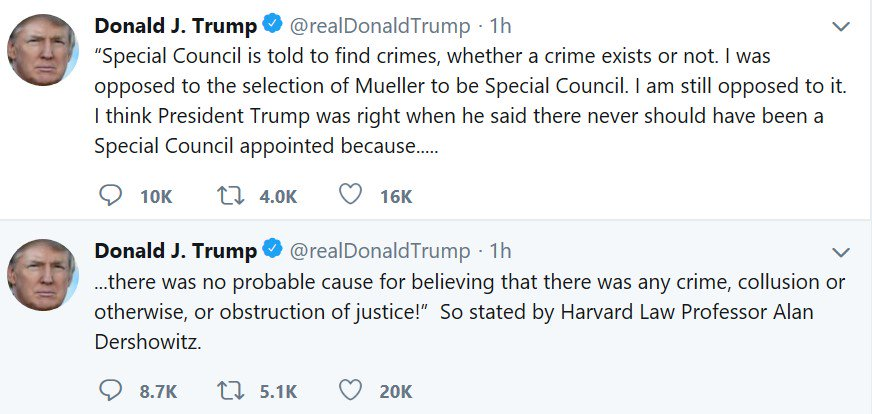 Trump is clearly escalating his attacks on the special counsel, though he has not yet learned how to spell special counsel.