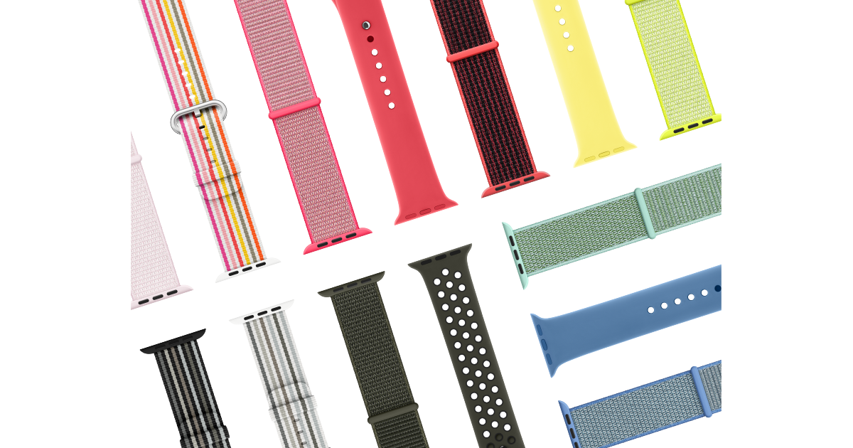Apple announces new Watch bands with 'vibrant colors for spring' https://t.co/tJm5KUep5z by @benlovejoy