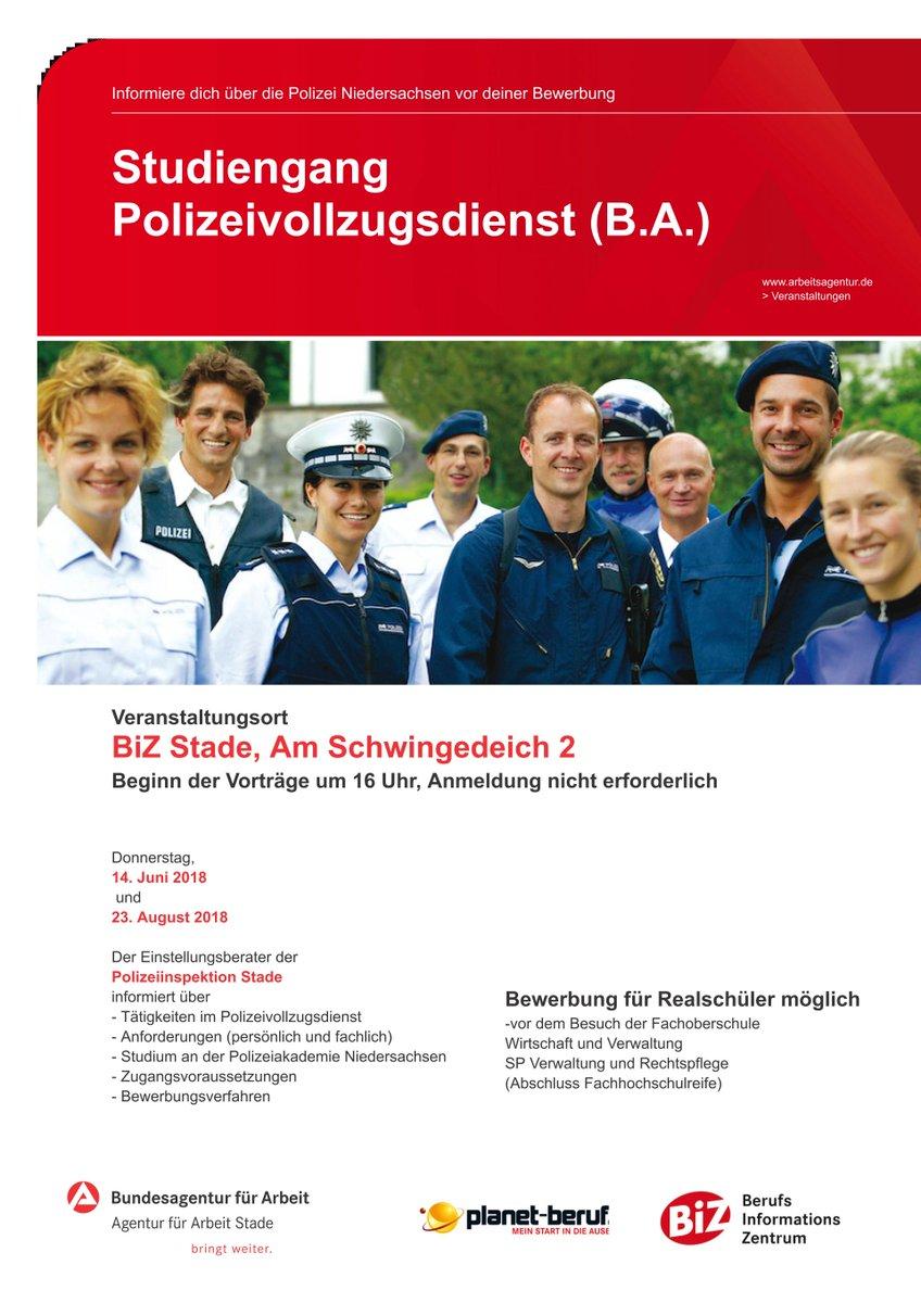 komme zu uns ins team informiere dich ber die polizei niedersachsen vor deiner bewerbung polizei_std vortragsreihe im biz am donnerstag 14 - Polizei Bewerbung Niedersachsen