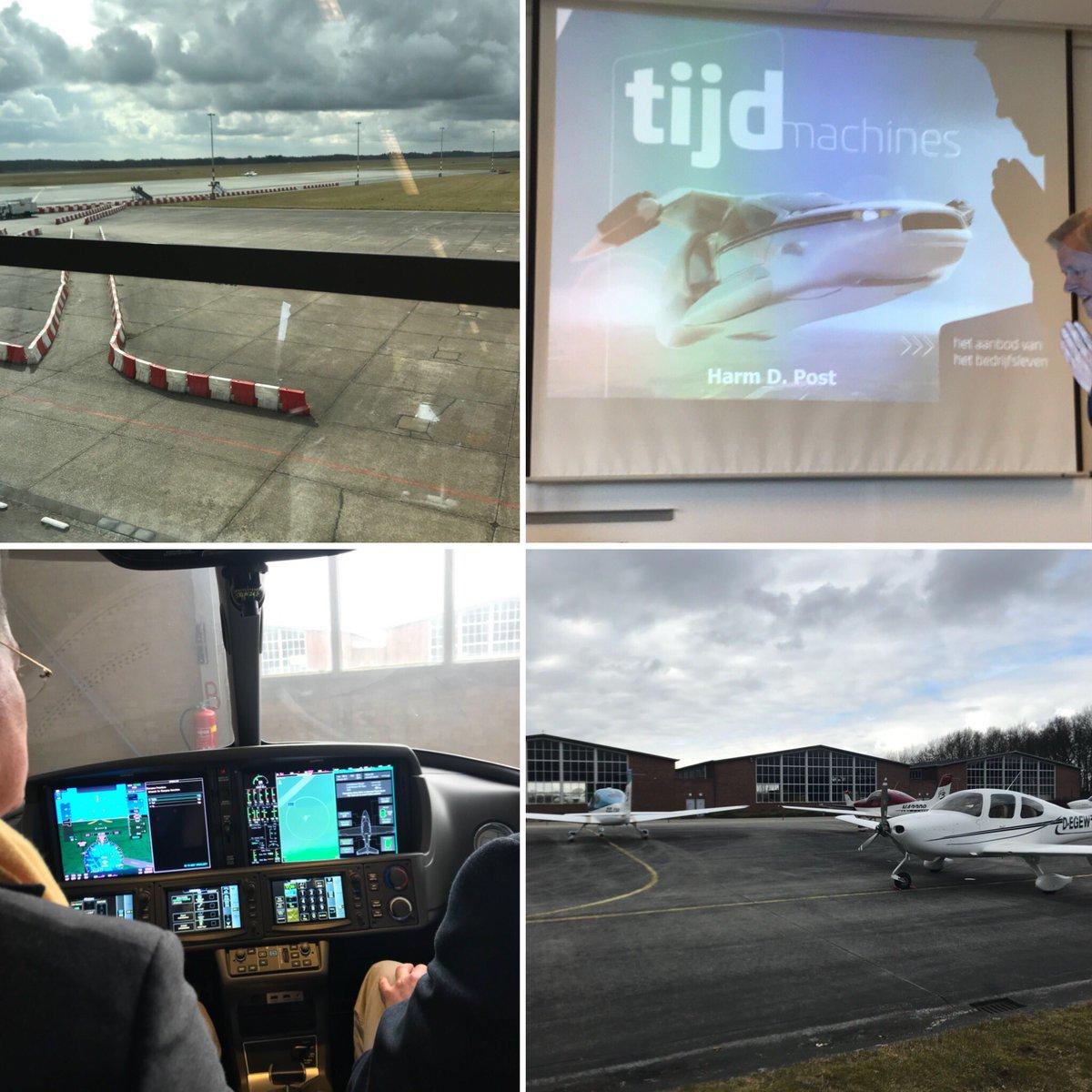 """Noordgang """"Grunniger Raif"""" op bezoek bij Groningen AirPort Eelde; inspiratie van Harm Post over het aanbod vh bedrijfsleven en het verhaal van Cirrus. Sinds 15 jaar wereldmarktleider en gewoon gevestigd op GAE! ^JS https://t.co/GQVhla1dS0"""