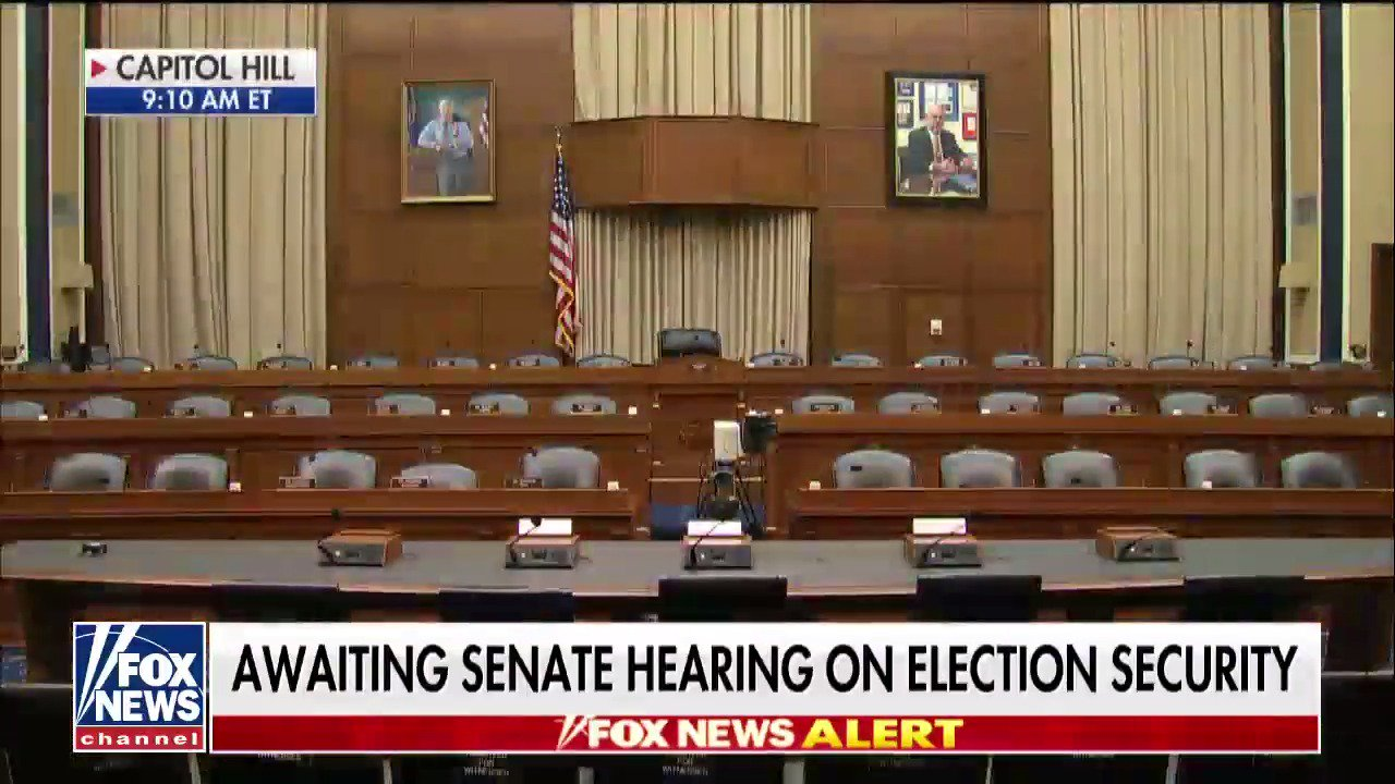 Awaiting Senate hearing on election security https://t.co/ur4tz9hBjq