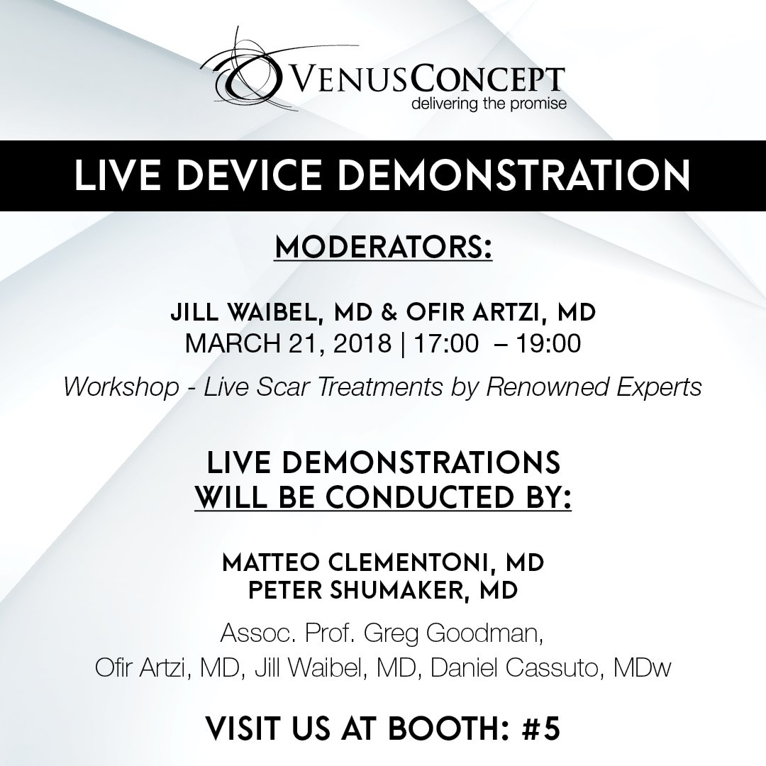 Venus Concept On Twitter Are You In Telaviv At The Dana A Acne Treatment Device Stop By And Watch Live Demonstrations Learn More About Radiofrequency Devices Multimodal Approach To Scars