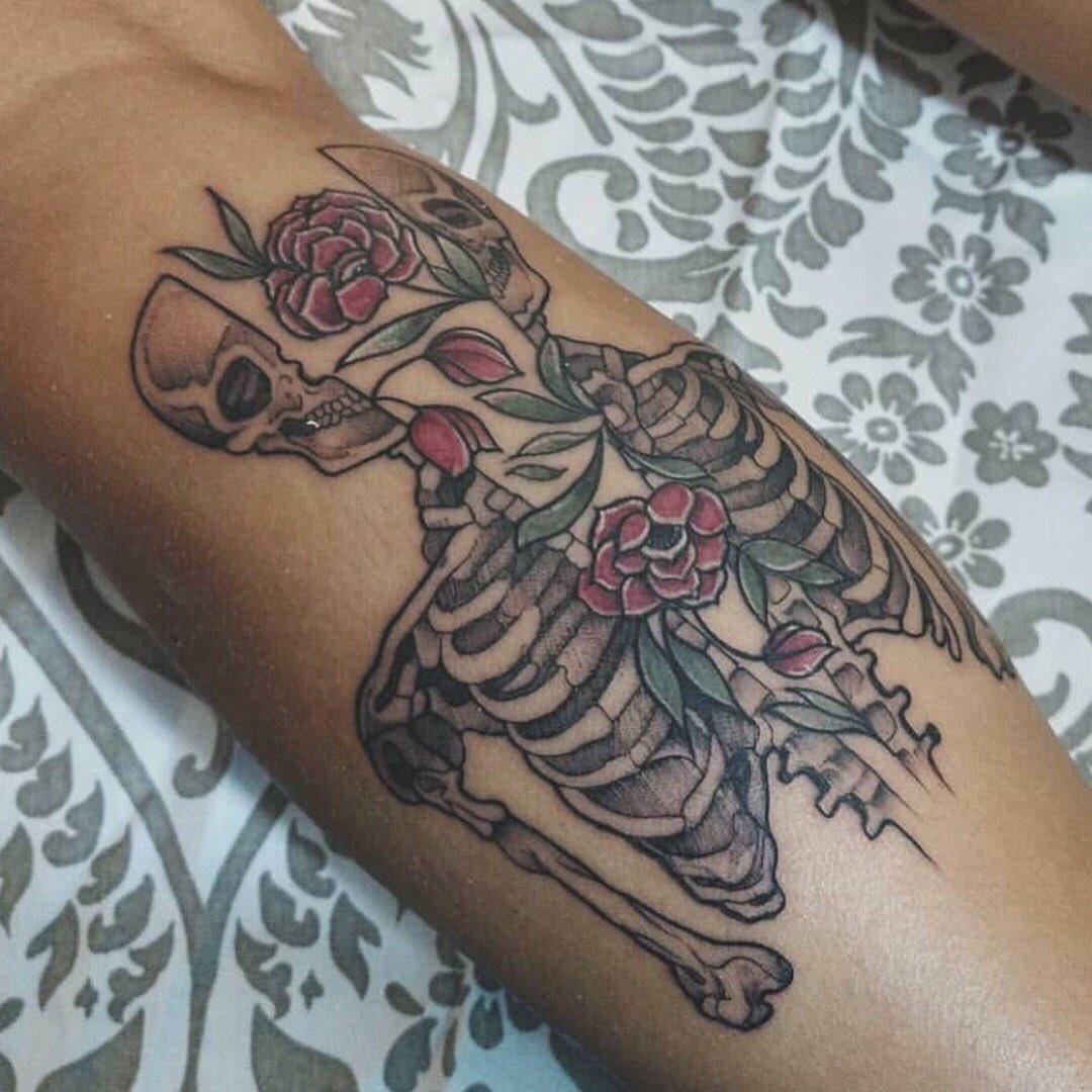 American Tattoo On Twitter Calavera No Chilla By Rocio