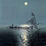 Image for the Tweet beginning: Shoda Koho (1870-1946) Moonlight sea (1910-1920)