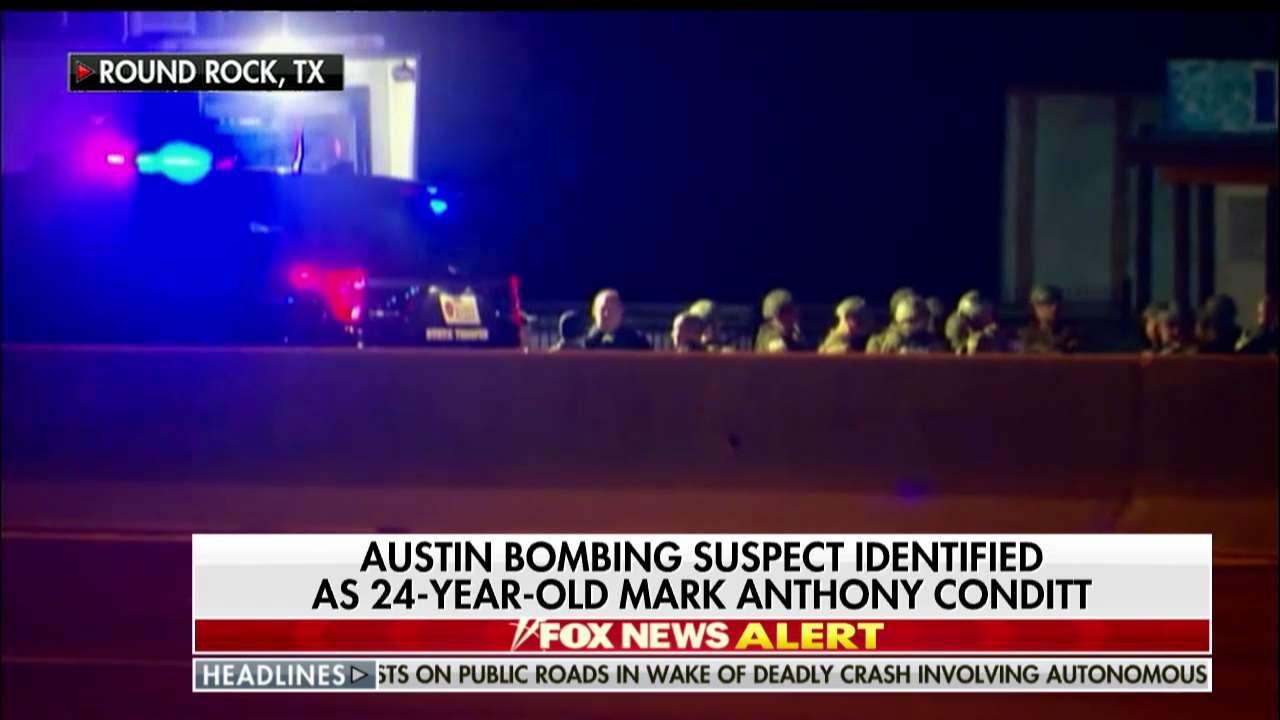 Austin bombing suspect identified as 24-year-old Mark Anthony Conditt. https://t.co/JBd1Rv2qN5 https://t.co/A79l94hygX