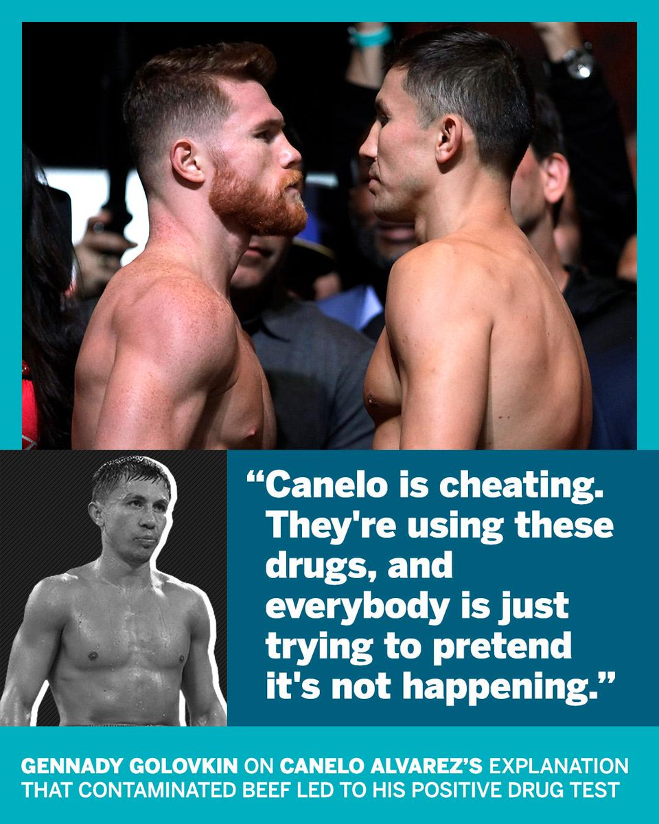 GGG didn't hold back when asked about Canelo's failed drug test. https://t.co/YhZokKUAzC