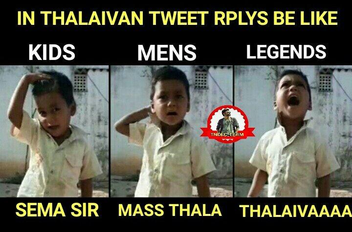 Dhanushkraja tweet roaring rplys storm in every sec  #Legends verithanam overload https://t.co/RPZqt1MiRf