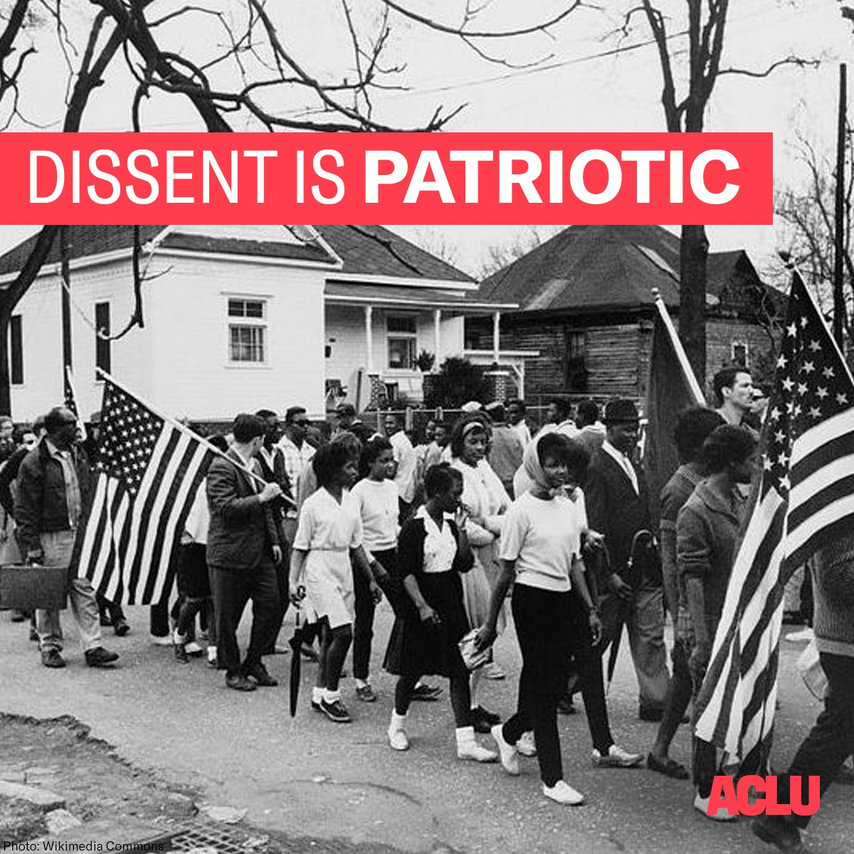 On this day in 1965, civil rights leaders in Alabama began their third march from Selma to Montgomery, protesting discrimination in the Jim Crow South. Today and always, dissent is patriotic.