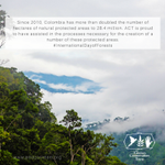 Since 2010 Colombia has more than doubled the number of hectares of natural protected areas to 28.4 million. ACT is proud to have assisted in the processes necessary for the creation of a number of these protected areas. #InternationalDayofForests