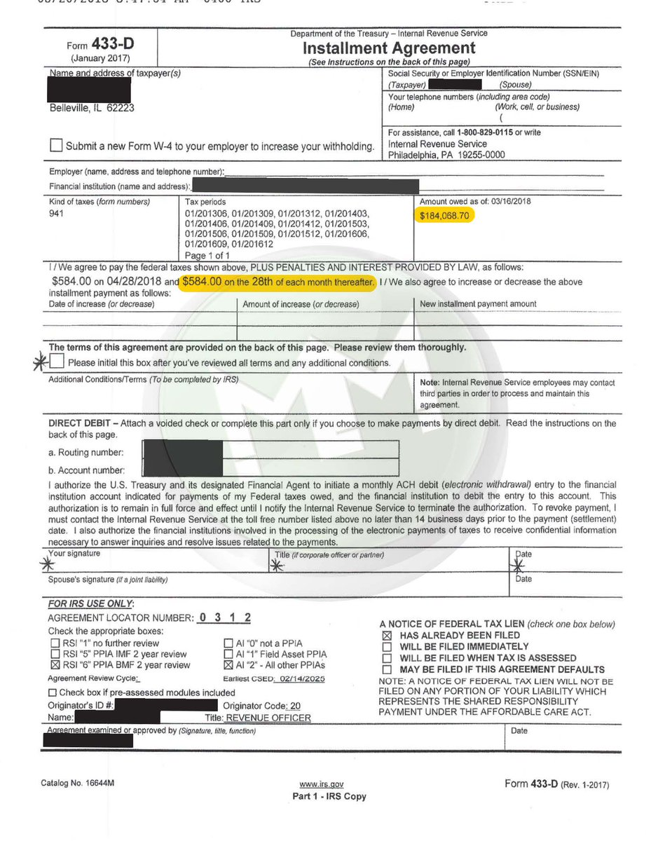 Irs Gov Form 433d Linertinamarkova