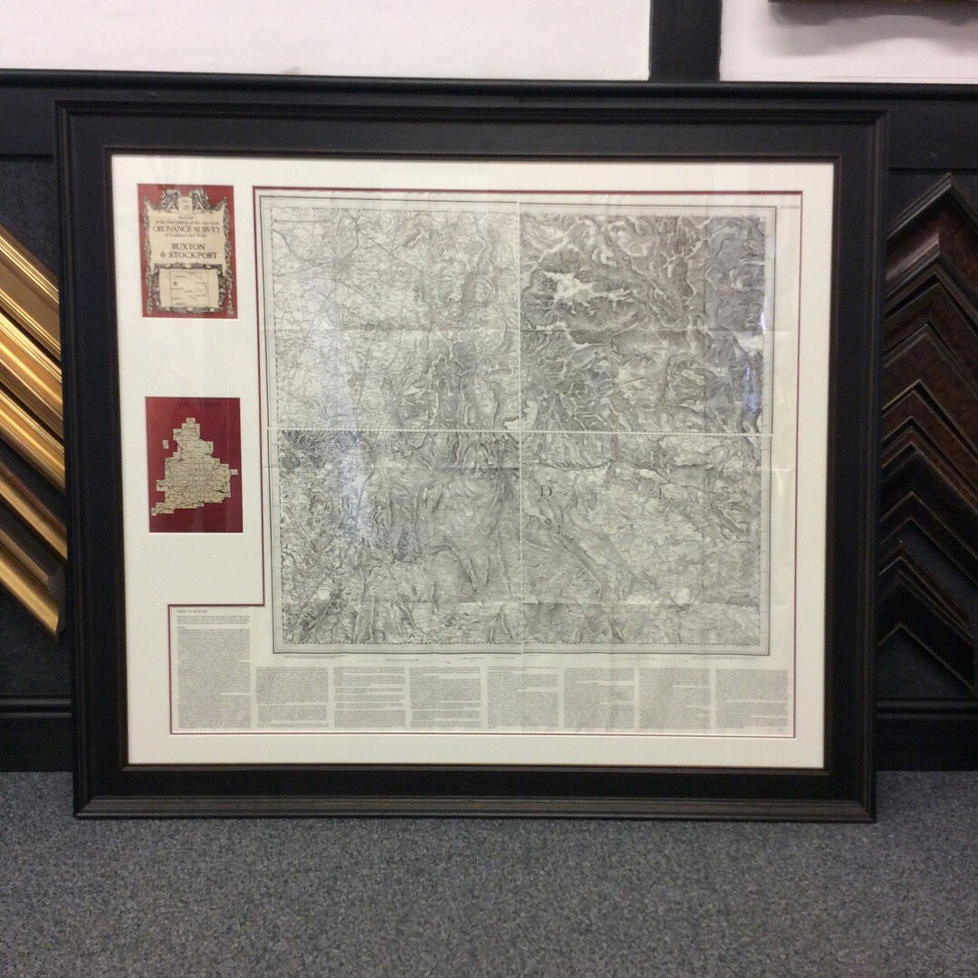 Brampton framing bramptonframing twitter we love framing antique items like this ordnance survey map of the peak district check out the bespoke double mount and amazing larson juhl frame jeuxipadfo Gallery