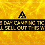 ⚠️All 3 day camping will sell out this week. Make sure you've got yours! 👉 https://t.co/4jblgxlONV