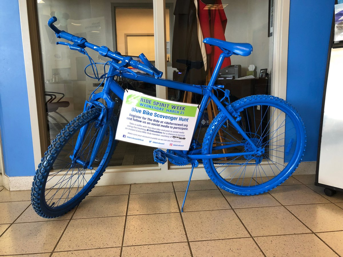 Anyone Participating In The Ride For Roswell Make Sure To Stop By West Herr  Honda In Lockport! We Have A Blue Bike Ready For Your Selfie. Come On Down!