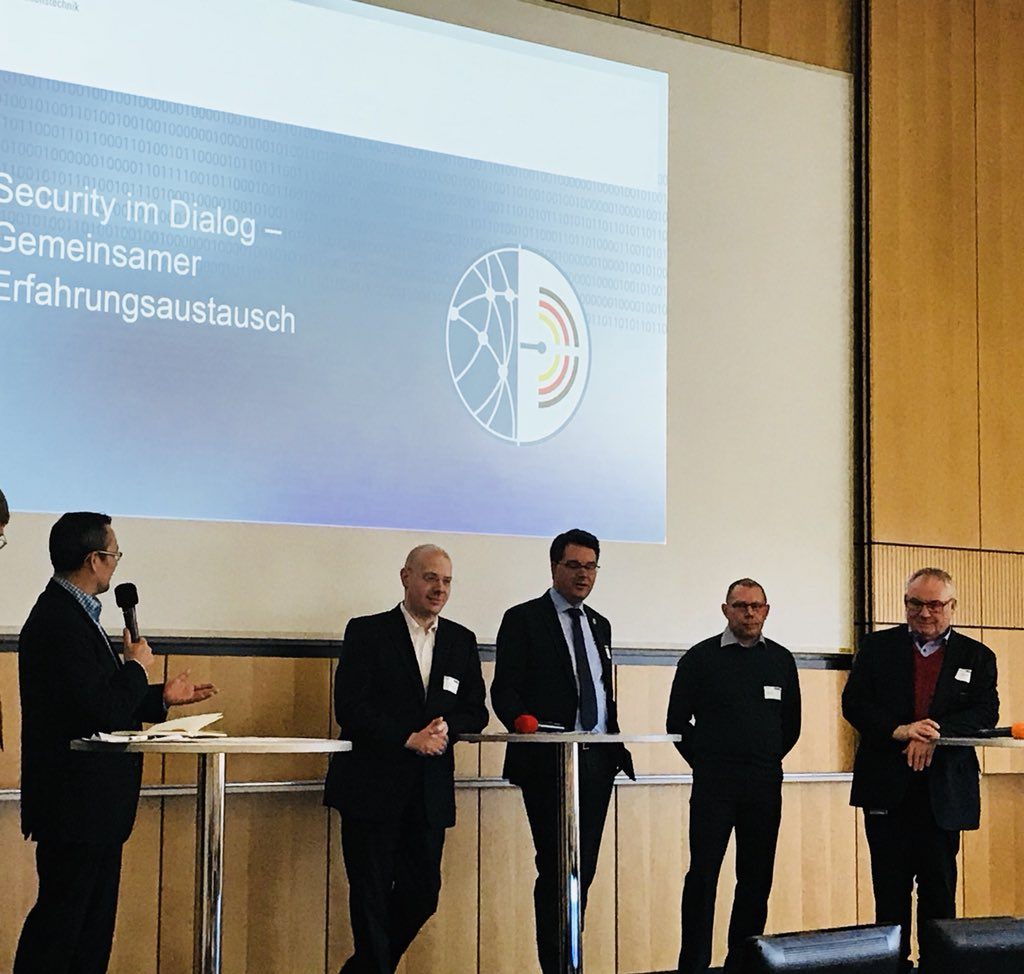 Interesting 21.Cybersecurity Day @CyberAllianz @BSI_Presse @vdma @iunoprojekt #industrialsecurity. Great presentation about #Awareness #Human Factor from @Krones. All employees are responsible for Information security!  #CMDCTRL18 @CommandMUC