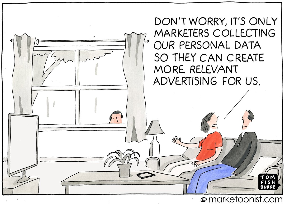 Tom Fishburne On Twitter This Cartoon I Drew In 2014 Seems A Little More Topical Week Tco LP0xCw6seq Marketing Personaldata Facebook